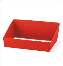 Red Tray - Vassoio Seta Rosso (31x24x10.5)