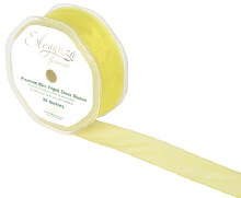 Finesse wired ribbon (32mm x 20m/Pale yellow)