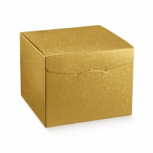 Box with Lid Gold - Sfere Oro Segreto (30x30x24cm)