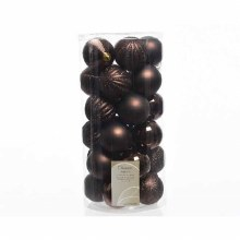 Baubles 7cm (X24) Dark Brown