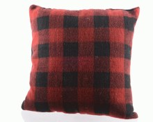 pes cushion w check print GB