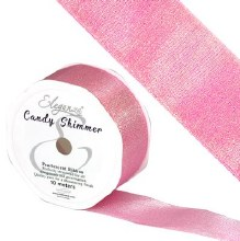 Candy Shimmer Metallic Ribbon Sugar Pink 38mmx10m