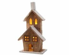 LED wooden house ind bo natur