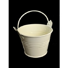 Galvanised Buckets Cream 2""