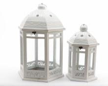 wood lantern hexag w met roof