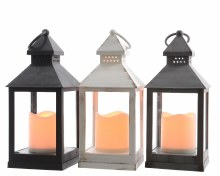 LED plastic lantern (3 colours assorted)