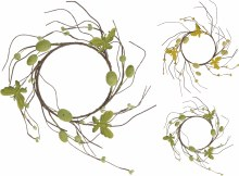 Easter Wreath With Decor  Assorted (12cm)