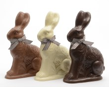 Poly Bunny Sitting Assorted (12x6x16cm)