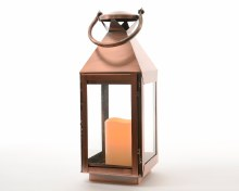 LED square lantern (Copper)