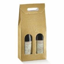 2 Bot. Wine Carrier Silk Gold - Seta Oro