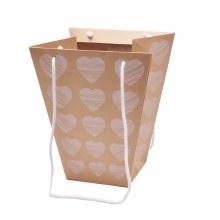 Carrybag Heartbeat Natural (23/23x13/13x28cm)