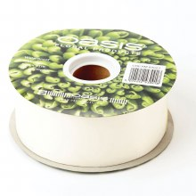 Poly Ribbon Satin Cream  (4.8cm x 91m)
