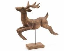 mango wooden deer on stand
