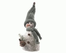 foam snowman with scarf with