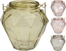 TEALIGHTHOLDER GLASS 105MM 4AS