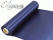 Eleganza satin fabric (29cm x 20m/Navy)