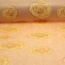 Kraft Paper Natural with Yellow Roses (50cmx100m)