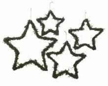 Iron Star w Moss and Hanger - set