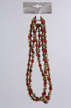 plastic bead garland w roses