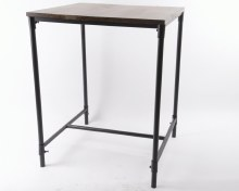 iron table with pinewood top