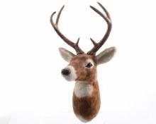 artificial fur reindeer head