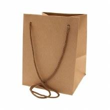 Hand Tie Bag Natural Kraft (19x25cm)