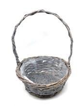 Round Basket Grey Wash (30cm)