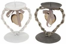 Candleholder metal heart design