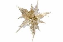 """10"""" Poinsettia Pick Ivory/Tiffany"""