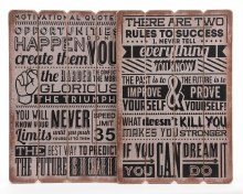 MDF sign quotes (2 assorted)