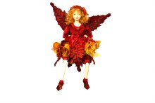 "9"" Flower Fairy Burgundy Gold"