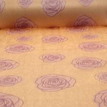 Kraft Paper Natural w Lilac Rose Heads (50cmx100m)
