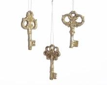 poly key ornament w hanger 3as