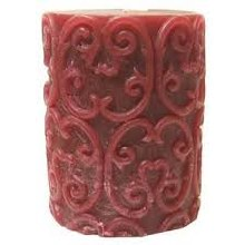 Pillar candle Rustic Red 7cm
