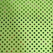 Paper Roll Metallic Green Spot