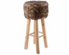pes footstool w artificial fur