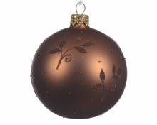 gl deco bauble all over leaves