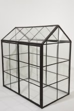 iron greenhouse with glass