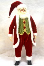 18in Santa Standing Red/Green