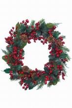 decorated wreath red glitter