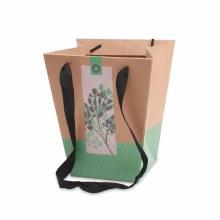 Bag Pure Nature Green M (19/19x12/12x22.5cm)