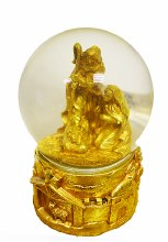 Nativity Waterball 16cm Gold