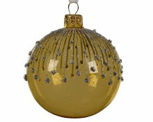 gl deco bauble glitter lines