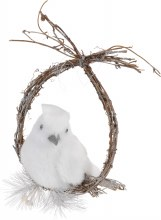 BIRD ON WREATH 33CM POLYFOAM