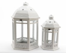 wood lantern hexag w met roof