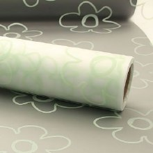 Cellophane Frosted Green Flower Head (80cmx50m)