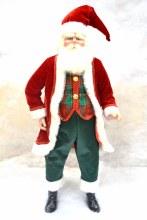 18in Santa Standing Red/Dk Gre
