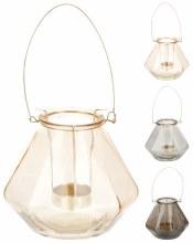 Tealightholder glass (12cm/3 assorted)