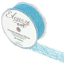 Web Ribbon 38mm Aqua Blue