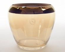 Glass vase luster plated rim